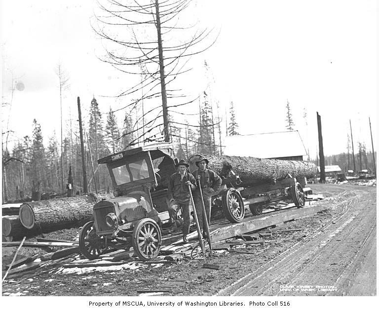 Logging truck 1921