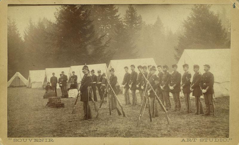 1885 national guard encampment