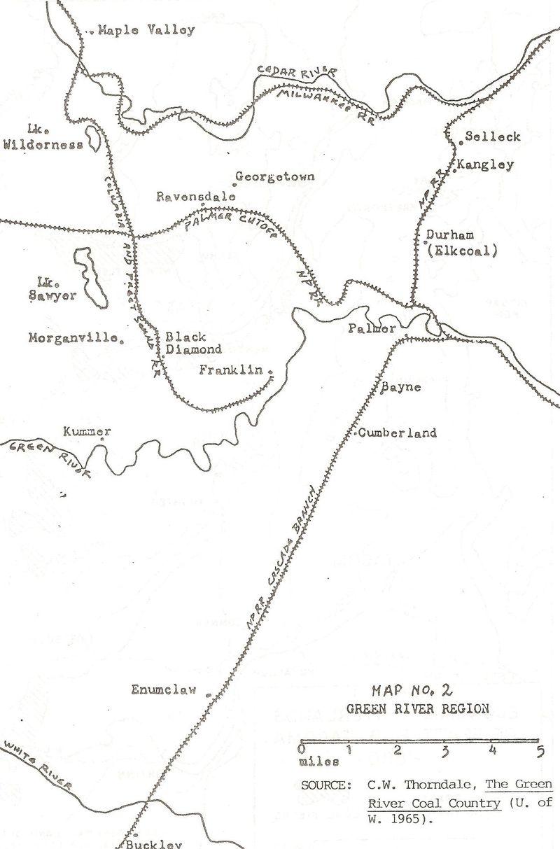 Coal mine area rr map