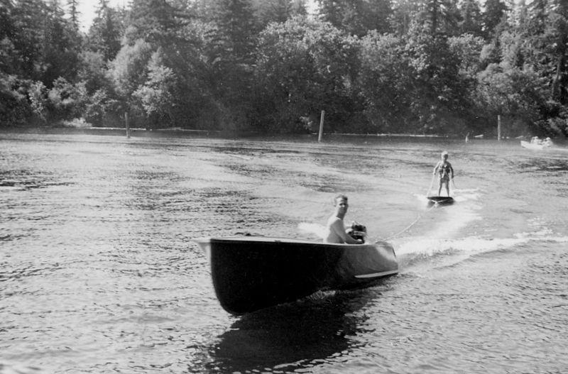 063 Jack Jr. on Surfboard 1950