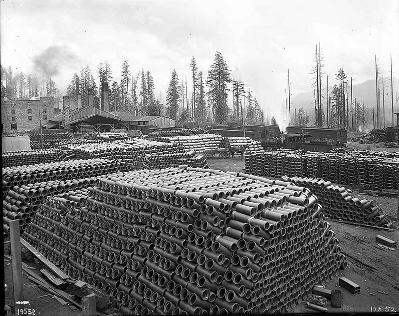 Denny renton clay stacks of sewer pipe