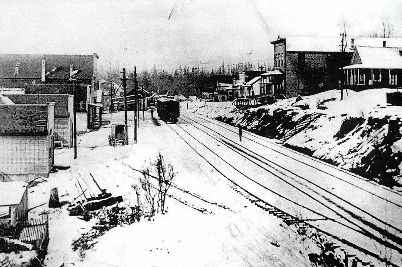 Railroad ave snow scene