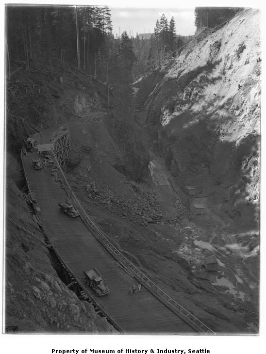 Mud mountain dam construction 1941