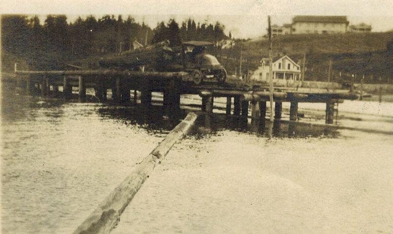 Pipe Lake Log Dump on Boardwalk