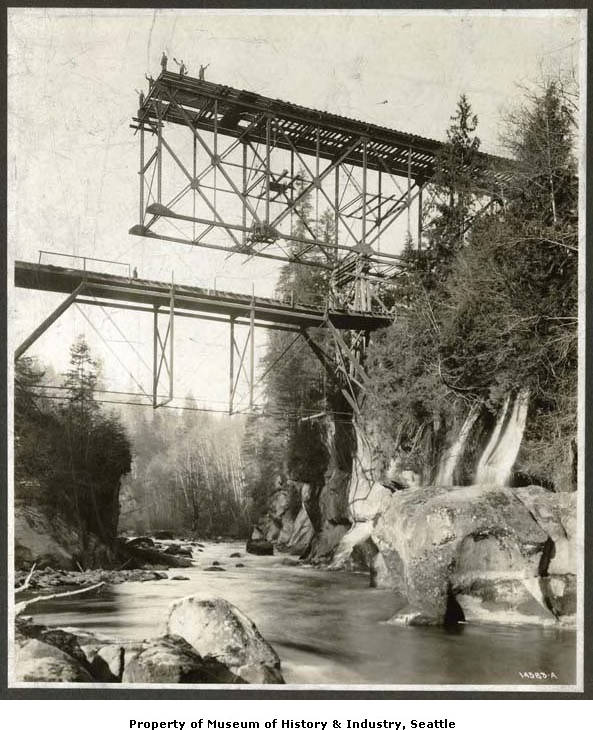 Green river gorge bridge construction 1914