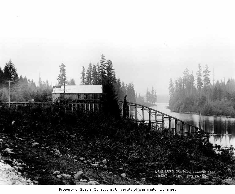 Lake tapps sawmill construction 1910