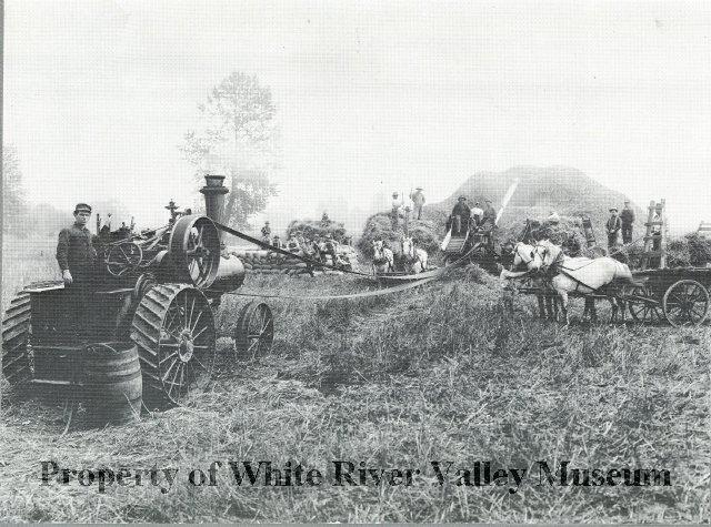 White river wheat thrashing