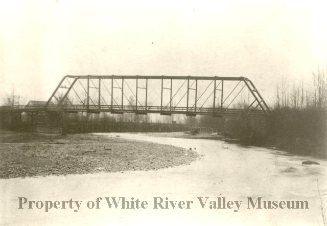 White river bridge before dry