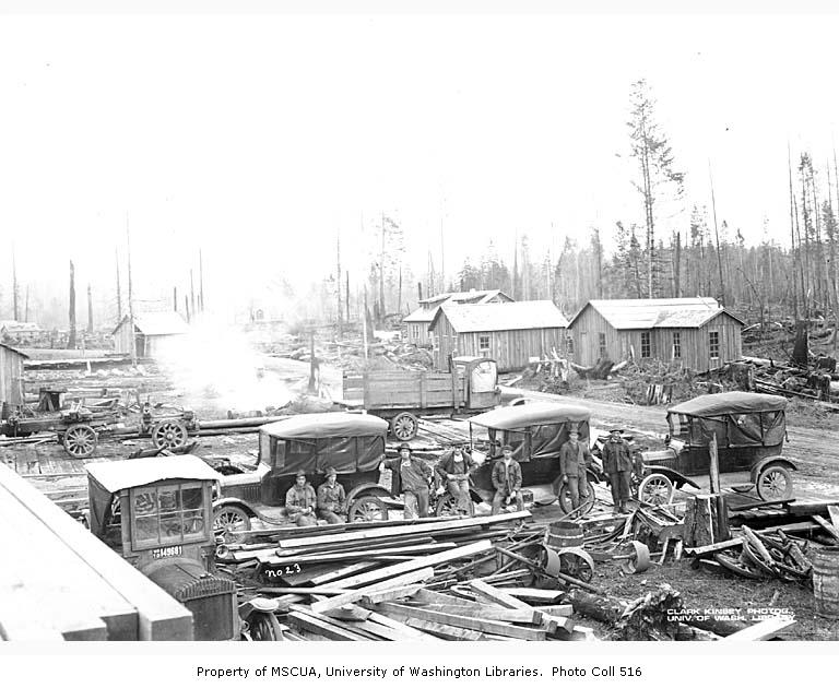 Coal creek lumber cars 1921