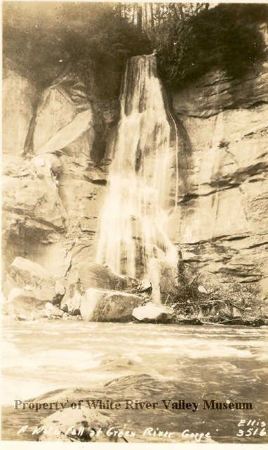 Green river gorge waterfall 1940