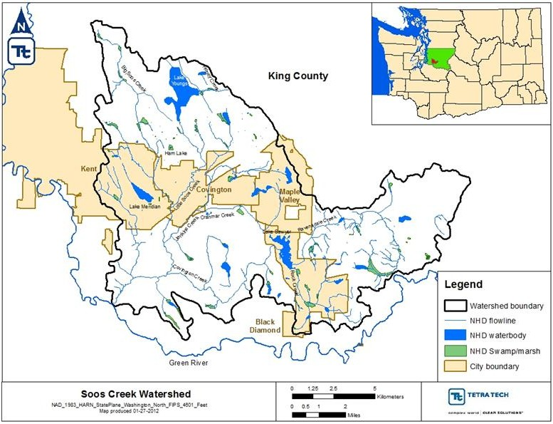 Soos creek basin water quality