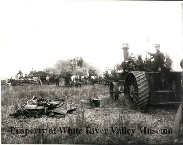 White River Wheat thrashing 2
