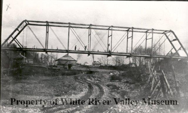 White River bridge dry bed