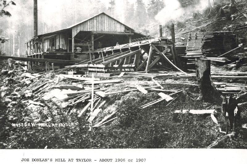 Dolan sawmill at taylor