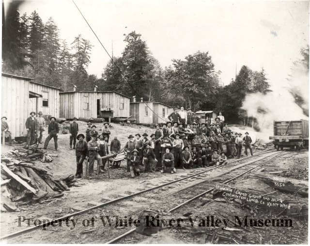 Covington mill logging camp