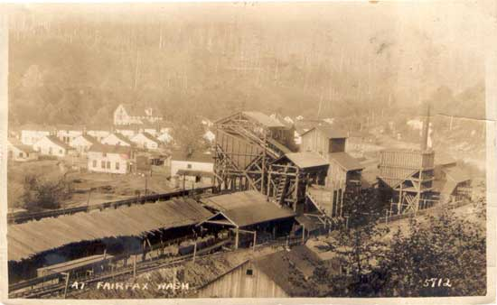 Fairfax penny postcard