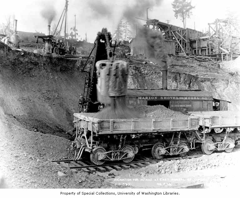 11 steam shovel