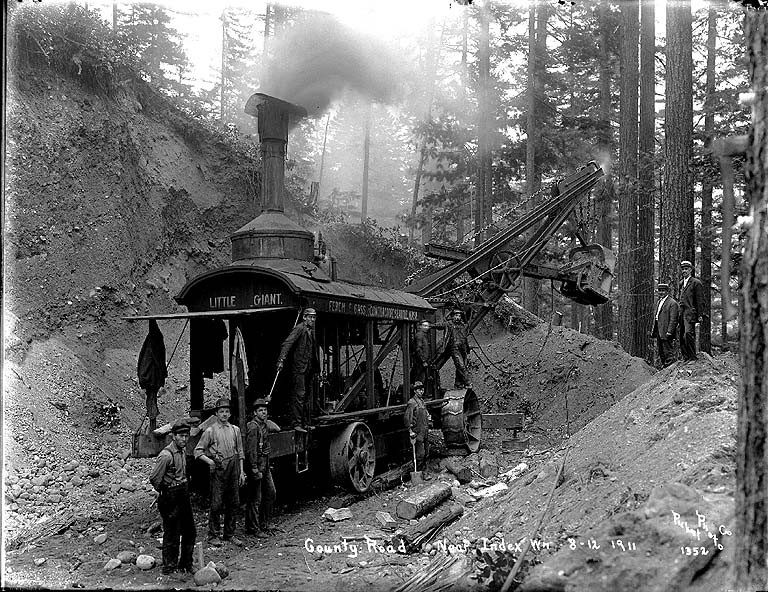Steam shovel little giant