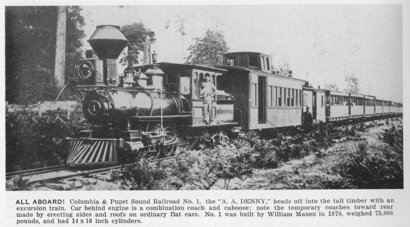 Columbia & puget sound rr locomotive 3
