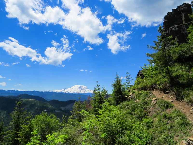 A mount rainier and trail-1