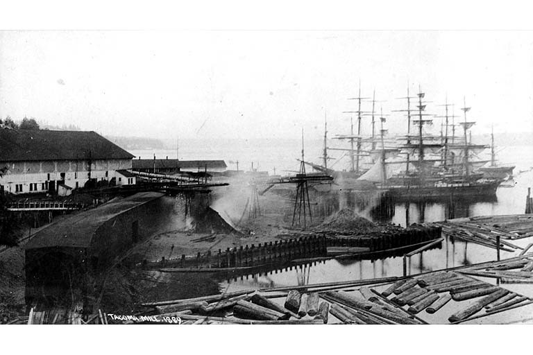 Tacoma mill docks 1889